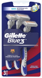 Gillette Blue3 Disposable Razor FC Barcelona
