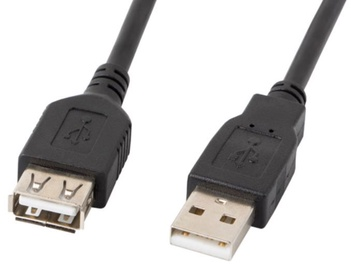 Lanberg Cable USB to USB Black 3 m