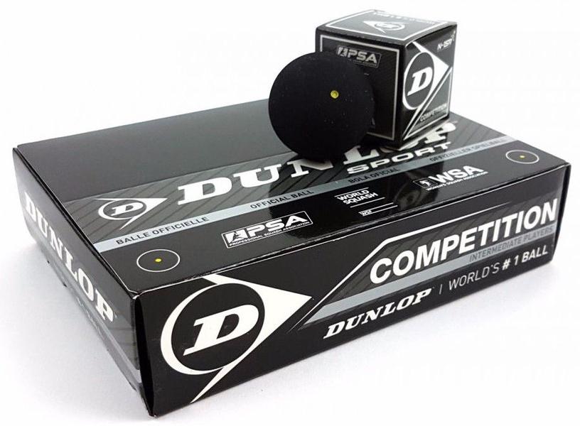 Dunlop Competiton Squashball 700112 12pcs
