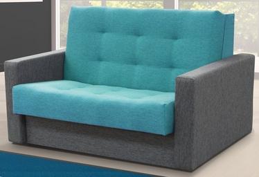 Диван-кровать Idzczak Meble Sylwia III M04759 Grey/Blue, 133 x 110 x 90 см