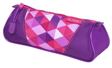 Herlitz Pencil Pouch Triangular Pink Cubes