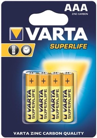 Varta Superlife Batteries 4x AAA