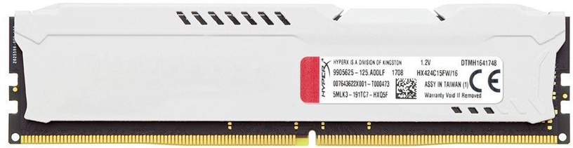 Kingston HyperX Fury White 16GB 2400MHz CL15 DDR4 HX424C15FW/16