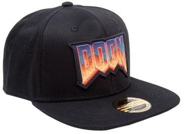 Bioworld Doom Classic Logo Snap Back Hat Black