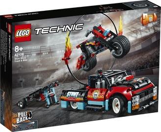 Konstruktor LEGO®Technic 42106 Trikimaastur ja -mootorratas