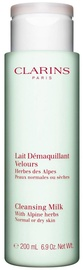 Clarins Cleansing Milk With Alpine Herbs For Normal to Dry Skin 200ml