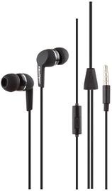 Qoltec In-Ear Headphones w/Mic Black