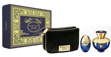 Versace Dylan Blue Femme 100ml EDP + 10ml EDP + Black Cosmetic Blag