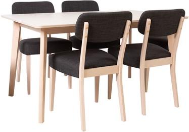 Home4You Adora Dining Room Set 4 Chairs Light Beech