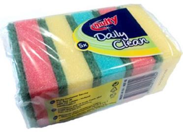 Multy Daily Clean Sponge Scourers 5pcs