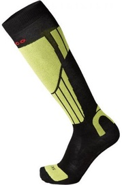 Mico Natural Ski Sock Light Black/Green 44-46