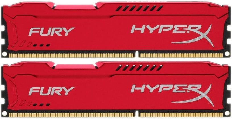 Kingston HyperX Fury Red 16GB 2400MHz CL15 DDR4 DIMM KIT OF 2 HX424C15FR2K2/16