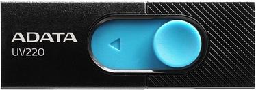 USB mälupulk ADATA UV220 Black/Blue, USB 2.0, 64 GB