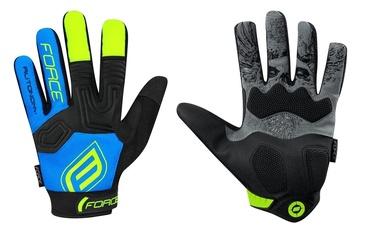 Force MTB Autonomy 17 Full Gloves Blue/Black XS