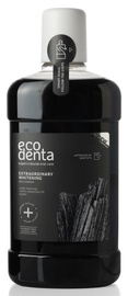 ECODENTA Черная отбеливающая жидкость для полоскания рта с углем 500ml