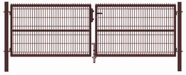 Sektsioonidega kaheleheline värav. 4000x1230mm