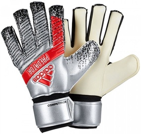 Adidas Predator Competition Gloves Silver/Red DY2603 Size 10