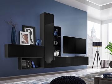 ASM Blox IV Living Room Wall Unit Set Black