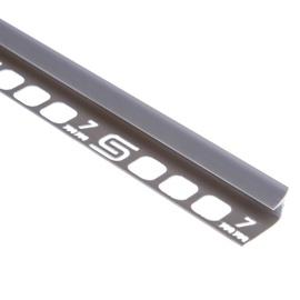 Plaadiliist 027003 sisenurk, 7 mm, 250 cm, hall