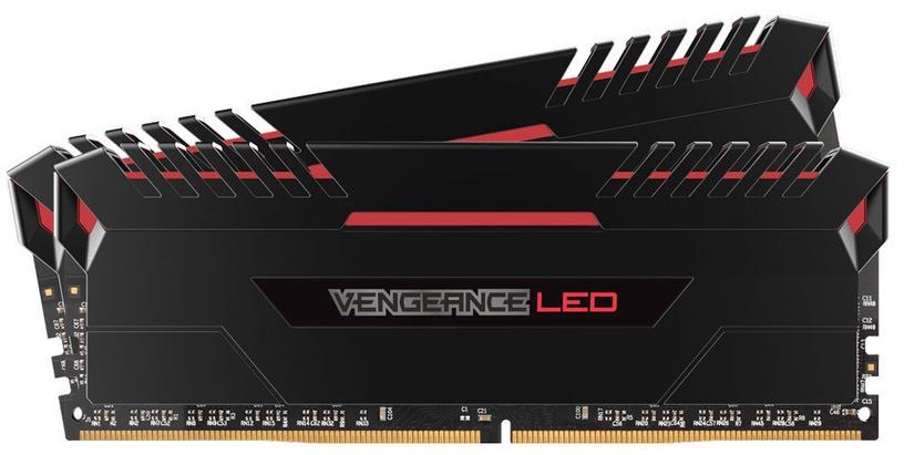 Corsair Vengeance LED 16GB 3200MHz DDR4 C16 Red DIMM KIT OF 2 CMU16GX4M2C3200C16R