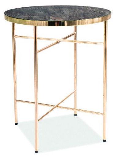 Kohvilaud Signal Meble Ibiza C Marble/Gold, 420x420x510 mm