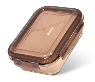 Fissman Container With Lid 17x12x5cm 640ml Brown