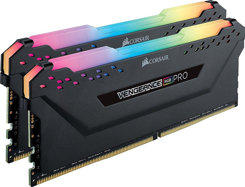 Corsair Vengeance RGB Pro Black 16GB 3600MHz CL18 DDR4 KIT OF 2 CMW16GX4M2C3600C18
