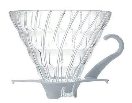 Hario V60 Glass Dripper 0.5l White