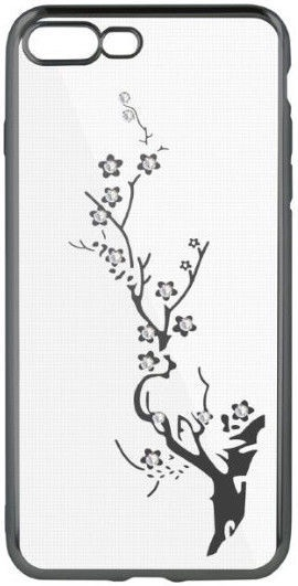Beeyo Glamour Series Branch Back Case For Apple iPhone XR Transparent/Grey