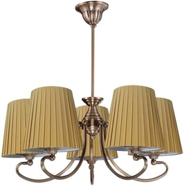 Candellux Mozart 5x60W E27 Hanging Ceiling Lamp Patina Cooper Honey