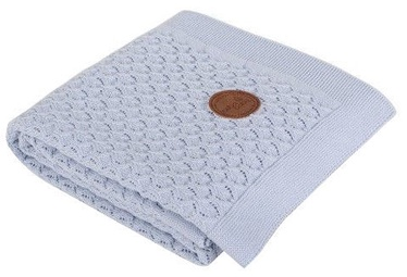 Ceba Baby Knitted Cotton Blanket 90x90cm Blue