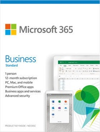 Microsoft Office 365 Business Standard Retail 1-Year Latvian License Medialess