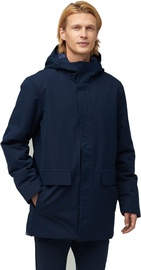 Audimas Long Water Repellent Parka Navy Blazer L
