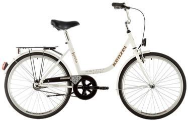 "Jalgratas Kenzel Loreta, valge, 18"", 24"""