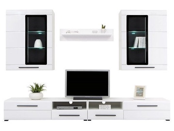 Black Red Whit Argus Wall Unit White