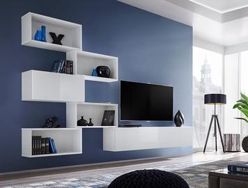ASM Blox VIII Living Room Wall Unit Set White