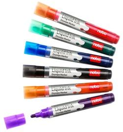 Nobo Liquid Ink Drywipe Markers 6-Pack