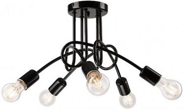 Lamkur Spiral Ceiling Lamp 5x40W E27 Black
