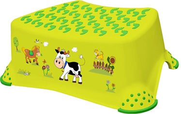 Keeeper Baby Step Stool Funny Farm Green Meadow