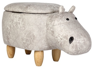 Signal Meble Pouf Hippopotamus Hubert Grey