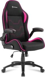 Игровое кресло Sharkoon Elbrus 1 Black Pink