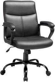 Songmics Office Chair Leather Black 65x63x103cm