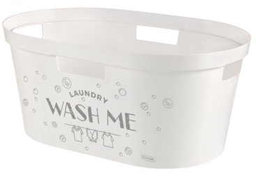 Curver Infinity Laundry Basket 40l White With Inscription