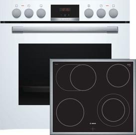 Духовой шкаф Bosch HND411LW61 + Электрическая плита