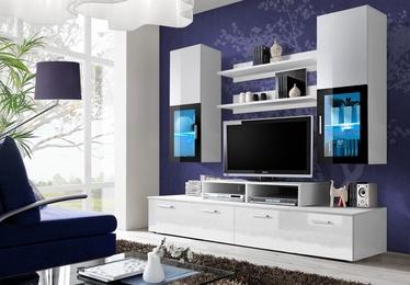 ASM Mini Living Room Wall Unit Set LED White