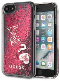Guess Glitter Hearts Back Case For Apple iPhone 7/8 Red