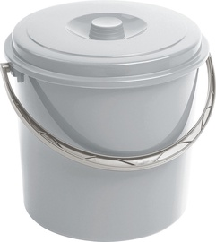 Curver Bucket With Grey Lid 10L Grey