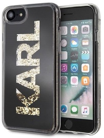 Karl Lagerfeld Karl Logo Glitter Back Case For Apple iPhone 7/8 Black