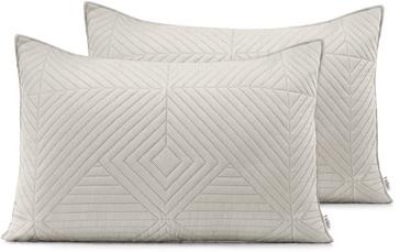 AmeliaHome Softa Pillowcase Beige/Cappucino 50x70 2pcs