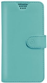 Celly Universal Wally Unica Book Case For 5.0-5.7'' Light Blue
